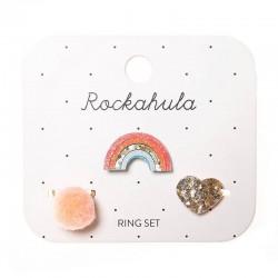 Rockahula Kids - 3 pierścionki Rainbow Bright