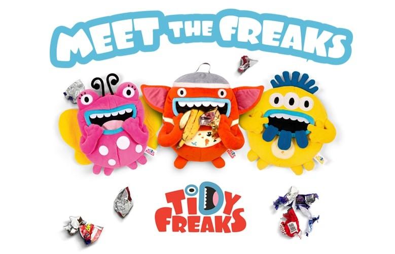 Tidy Freaks - Śmieciołaki Przytulaki - wesołe kosze na śmieci