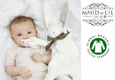 Maud N Lil organiczne zabawki dla Noworodków z certyfikatem GOTS